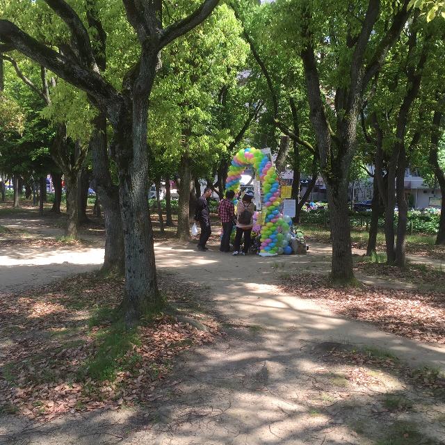 落雷事故がのあった長居公園(撮影 アイ・アジア)