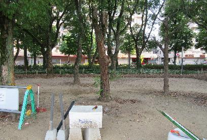 撤去され平地になった慰霊碑跡地。ここで、牧子さんは雷に打たれ亡くなった。