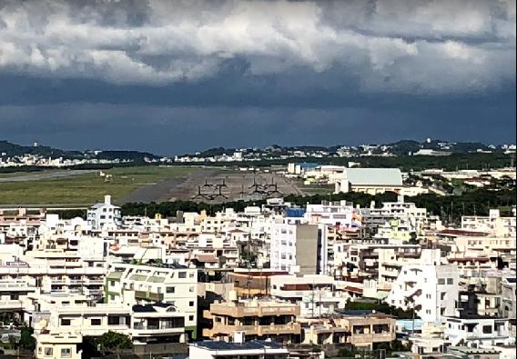 沖縄県知事選挙の焦点の一つになっている米軍普天間飛行場