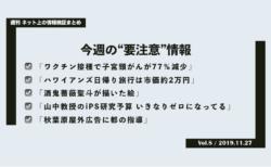 《週刊》ネット上の情報検証まとめ(Vol.8/2019.11.27)