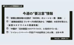 《週刊》ネット上の情報検証まとめ(Vol.22/2020.3.4)