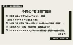 《週刊》ネット上の情報検証まとめ(Vol.30/2020.4.29)