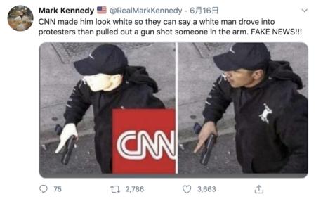 「CNNが発砲した男の写真を加工し、白人に見せかけた」との虚偽情報 日本でも拡散