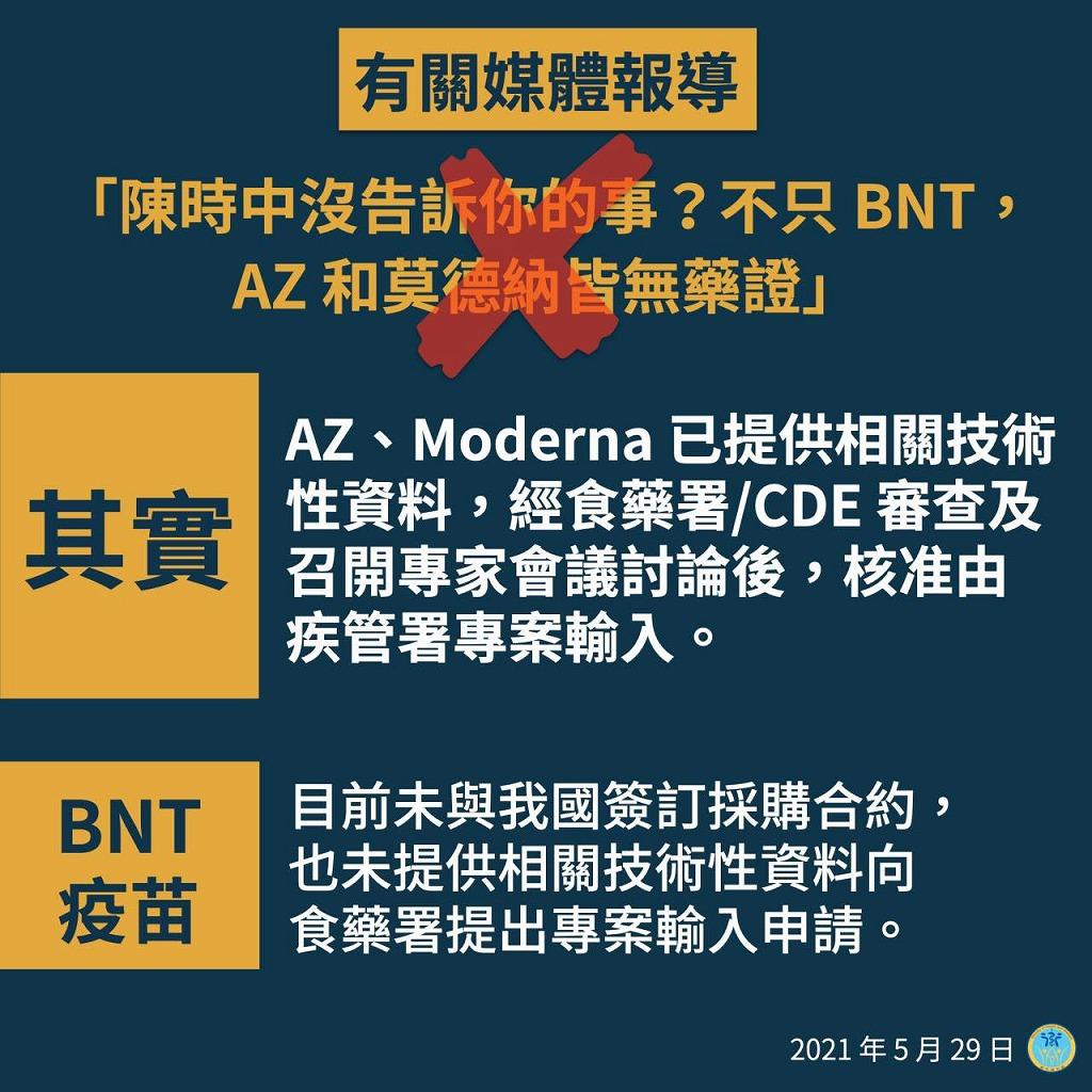 【コロナの時代】FactCheck:「台湾で認可・承認されているワクチンはアストラゼネカ製のみ」は誤り 発信者は訂正済