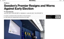 [FactCheck]「スウェーデン首相がコロナ禍初期に感染拡大を止められなかった責任を取って辞任」は根拠不明